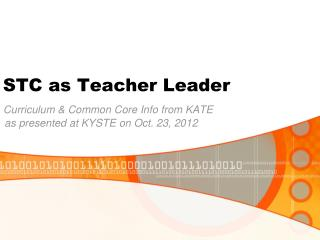 STC as Teacher Leader