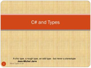 C# and Types