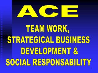 TEAM WORK,  STRATEGICAL BUSINESS  DEVELOPMENT & SOCIAL RESPONSABILITY