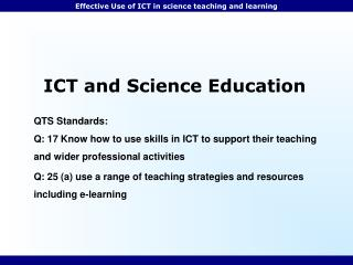 ICT and Science Education