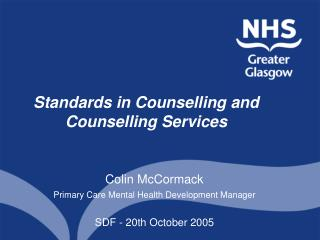 Standards in Counselling and Counselling Services