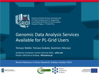 Genomic Data Analysis Services Available for PL-Grid Users