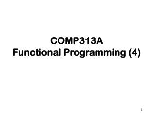 COMP313A Functional Programming (4)