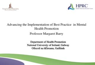 Department of Health Promotion National University of Ireland ...