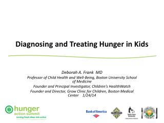 Diagnosing and Treating Hunger in Kids