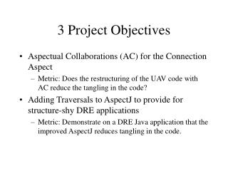 3 Project Objectives