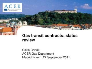 Gas transit contracts: status review