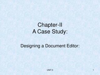 Chapter-II A Case Study: