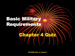 Basic Military Requirements