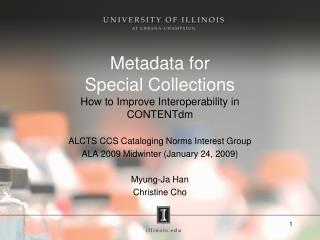 Metadata for  Special Collections