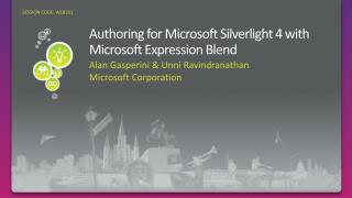 Authoring for Microsoft Silverlight 4 with Microsoft Expression Blend