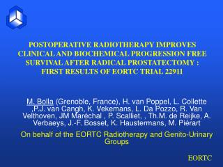 POSTOPERATIVE RADIOTHERAPY IMPROVES CLINICAL AND BIOCHEMICAL PROGRESSION FREE SURVIVAL AFTER RADICAL PROSTATECTOMY : FIR