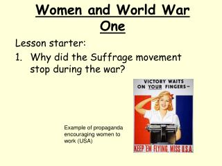 Women and World War One