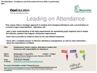 Leading on Attendance