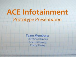 ACE Infotainment Prototype Presentation
