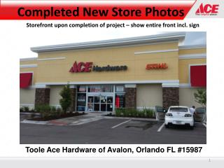 Toole Ace Hardware of Avalon, Orlando FL #15987
