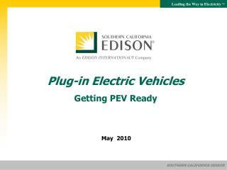 Plug-in Electric Vehicles Getting PEV Ready