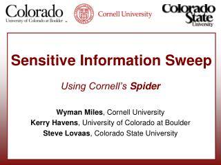Sensitive Information Sweep