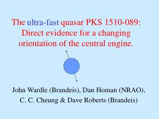 The                quasar PKS 1510-089: Direct evidence for a changing orientation of the central engine.