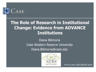 The Role of Research in Institutional Change: Evidence from ADVANCE Institutions