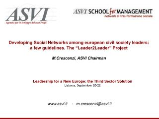 Developing Social Networks among european civil society leaders: