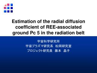 Estimation of the radial diffusion coefficient of REE-associated ground Pc 5 in the radiation belt