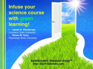 Infuse your science course with  green  learning!