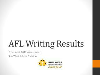 AFL Writing Results