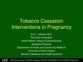 Tobacco Cessation Interventions in Pregnancy