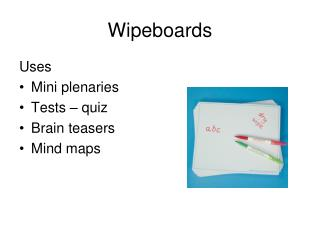 Wipeboards