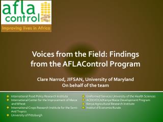 Voices from the  Field: Findings  from the  AFLAControl  Program