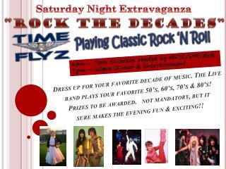 Saturday Night Extravaganza