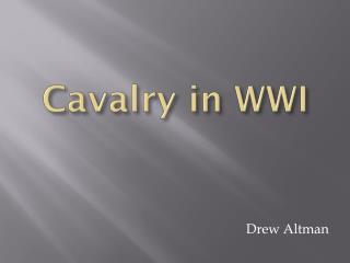 Cavalry in WWI