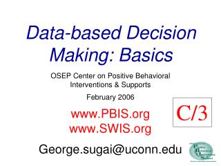Data-based Decision Making: Basics
