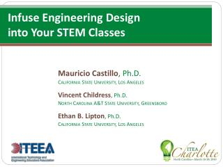 Infuse Engineering Design  into Your STEM Classes