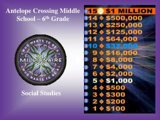 Antelope Crossing Middle School – 6 th  Grade