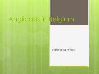 Anglicans in Belgium