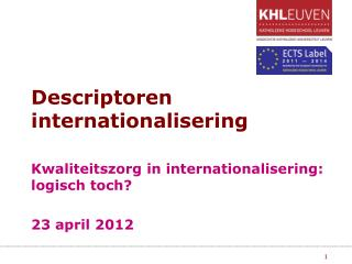 Descriptoren internationalisering