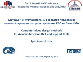 "2nd International Conference ""Integrated Modular Avionics and CNS/ATM"""