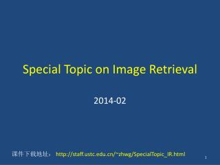 Special Topic on Image Retrieval