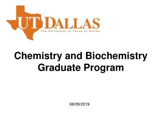 Chemistry and Biochemistry Graduate Program