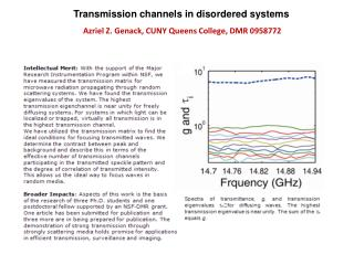 Transmission channels in disordered systems