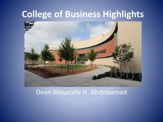 College of Business Highlights