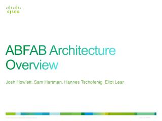 ABFAB Architecture Overview