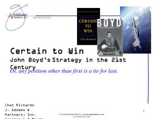 Certain to Win John Boyd's Strategy in the 21st Century