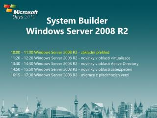 System Builder  Windows Server 2008 R2