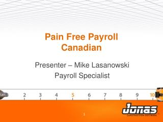 Pain Free Payroll Canadian