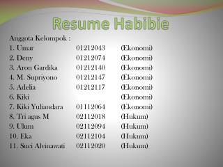 Resume  Habibie