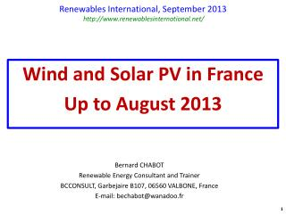 Renewables International,  September  2013  renewablesinternational/