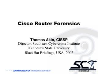 Cisco Router Forensics